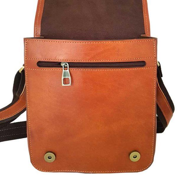 کیف دوشی اسپرت چرم طبیعی زنانه