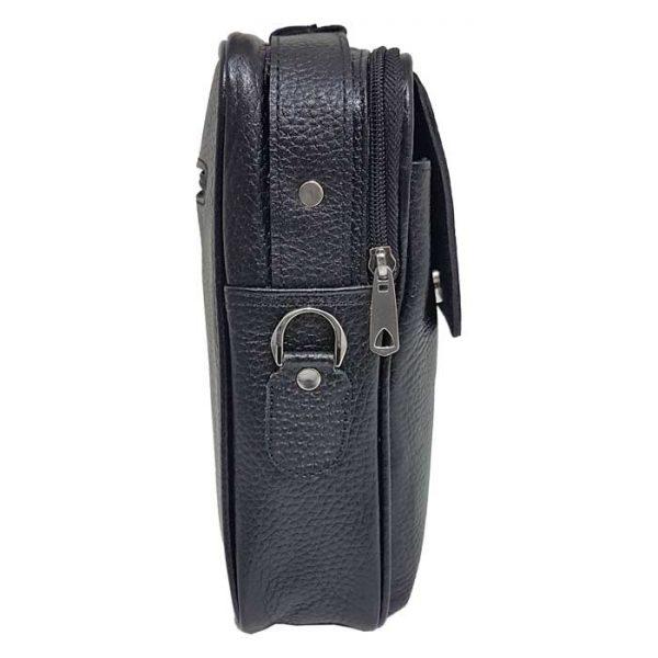 کیف دوشی اسپرت چرمی مردانه و زنانه دسته دار مشکی