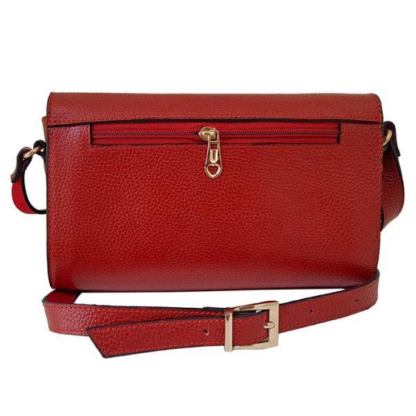کیف مجلسی چرم طبیعی زنانه قرمز