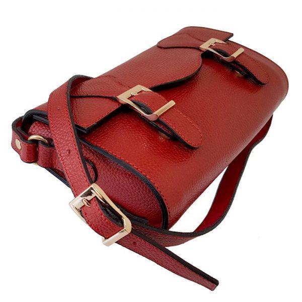 کیف دستی چرم طبیعی زنانه قرمز