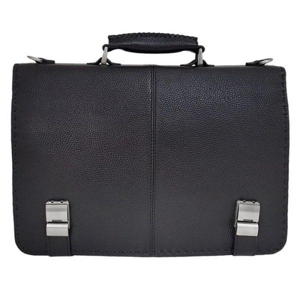 کیف اداری زیر دو بند چرم طبیعی مردانه