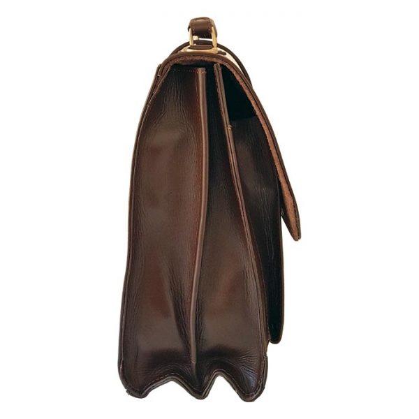 کیف اداری چرم مردانه سگکدار قهوه ای